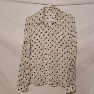 Delia's sheer cat button shirt